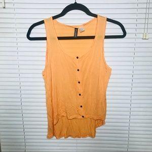 🌻SALE 5 for $25 • Orange Button Down Tank Top